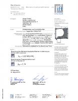 Certyfikat IFT Rosenheim – skrzynka Vegas Revo 205 mm (adaptacja PVC)