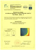Badanie przenikalności termicznej Vegas Revo 260 mm PVC3-M